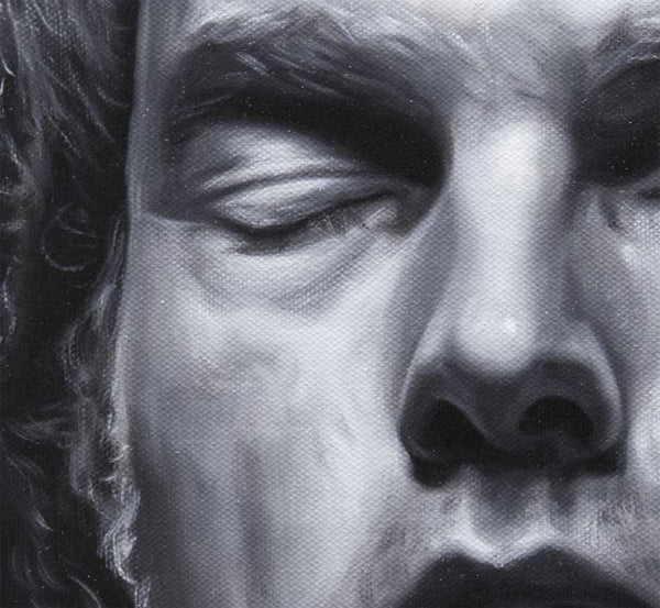 Detail from portrait of Van Morrison