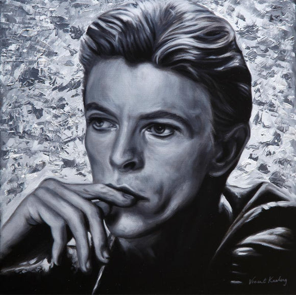 oil painting of David Bowie