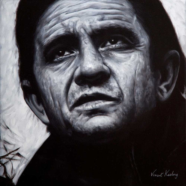 Johnny Cash - Original Painting - AVAILABLE