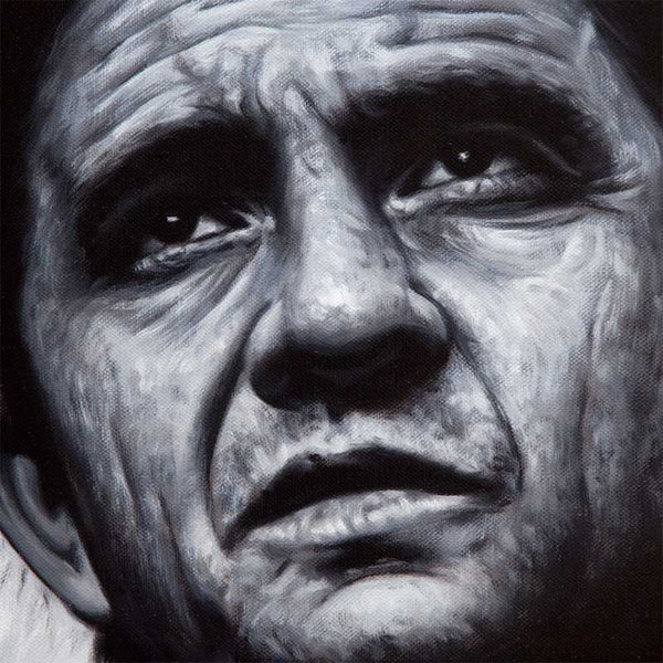 Detail of Johnny Cash portrait