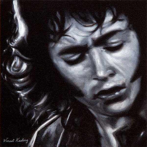 Giclee print of Irish singer and guitar legend Rory Gallagher