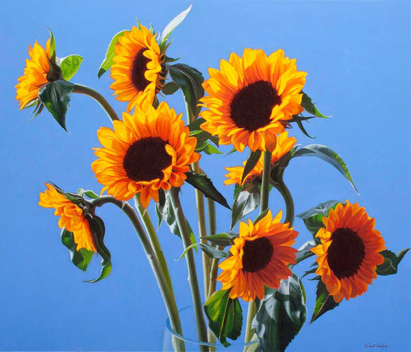 Sunflowers - medium print includes mount! - SOLD