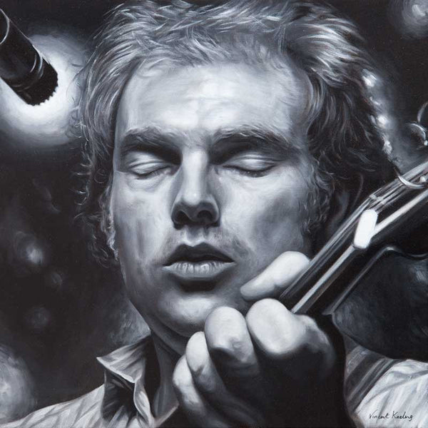 Giclee print of Van Morrison from a portrait in oil on canvas