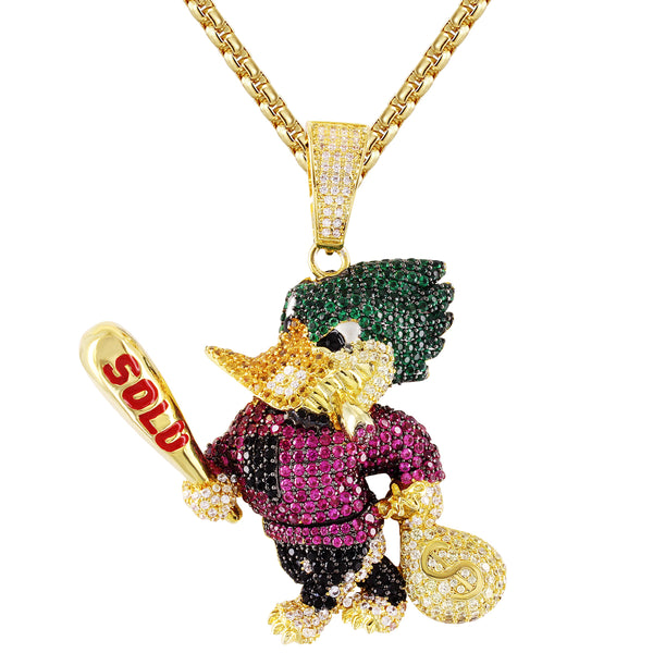 Custom Character Duck Face Money Bag  Solo Pendant