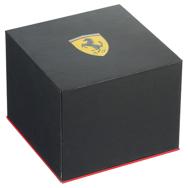 Ferrari Men's 0830078 Race Day Back Yellow Rubber band Watch