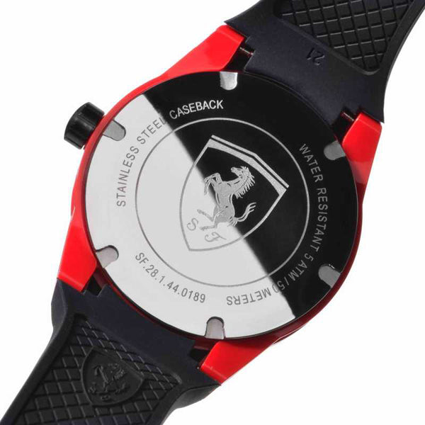 Men's Ferrari 0830255 Multi-function RedRev T Black Watch