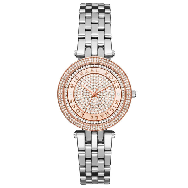 Michael Kors Silver Mini Darci Two Tone Watch MK3446
