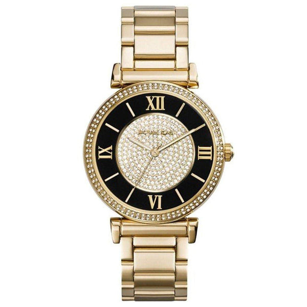 Michael Kors Women's MK3338 'Caitlin' Crystal Gold-Tone Steel Watch