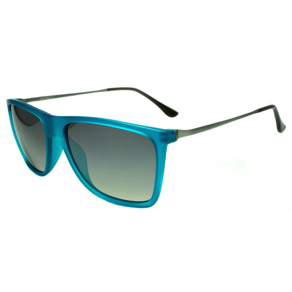 Wayfarer Sunglasses Gray Lenses Retro Blue Frame Fashion Mens Shades