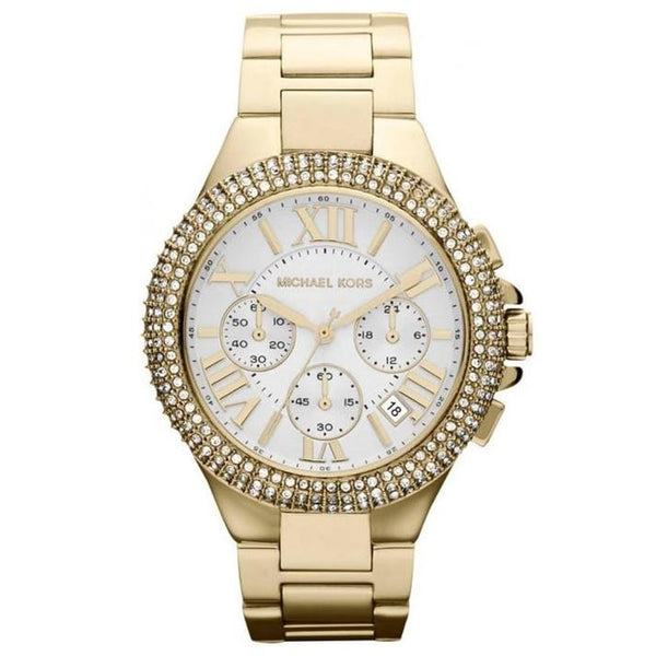 Michael Kors Gold-Tone Glitz Camille Watch MK5756
