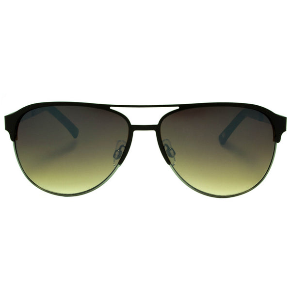 Brown Lenses Sunglasses Aviator Black Frame