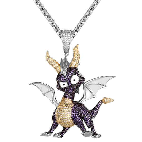 Baby Dragon Wings Animal Custom Designer Bling Pendant