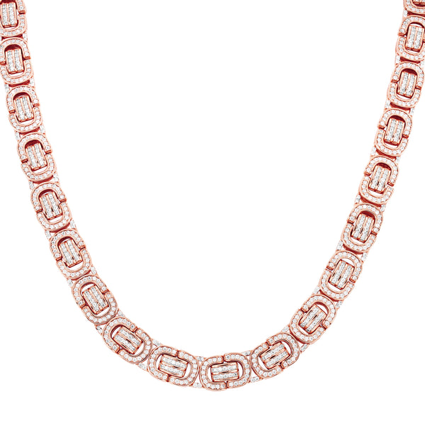 Bling Byzantine Link Rose Gold Finish 20