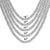Designer Miami Cuban Link White Tone 925 Silver 6MM Necklace