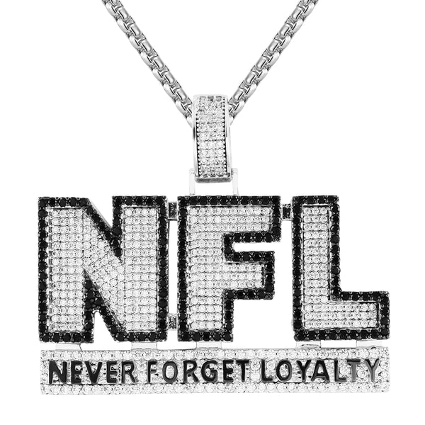 Never Forget Loyalty Black & White Double Layer Pendant