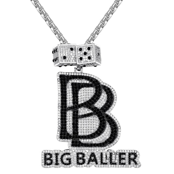 Big Baller, luck, casino, dice, mens chain, tennis chain, custom chain