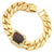 14K Gold Tone Tiger Eye Gemstone Bracelet