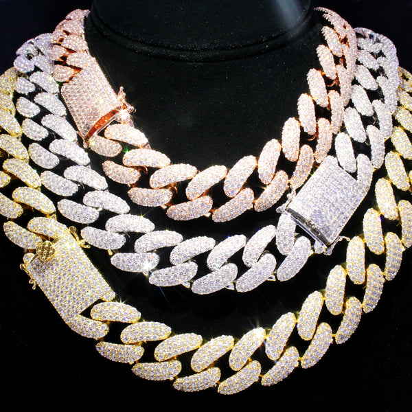 Men's Iced Out Lock 18MM Miami Cuban Chain Necklace