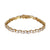 Gold Finish Sterling Silver Solitaire Tennis Bracelet For Her