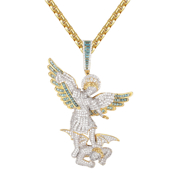 Saint Michael Archangel Prayer San Miguel Pendant Necklace