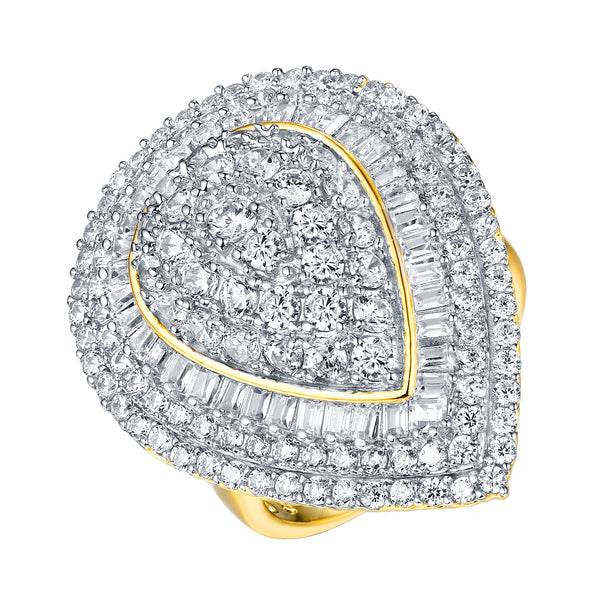 Marquise Cut Wedding Ring Womens Ladies Gold On Sterling Silver Cubic Zirconia