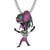 Silver Custom Animated Character Bling Rapper Pendant Chain