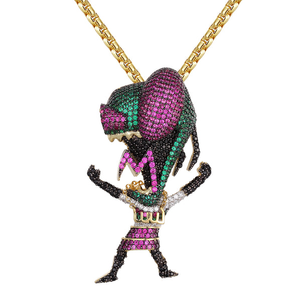 Gold Tone Cartoon Character Multi Color 925 Silver Charm