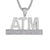 Mens ATM Addicted To Money Hip Hop Pendant Free Box Chain