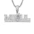Rapper Style Mogul 14Kt White Gold Finish Custom Pendant