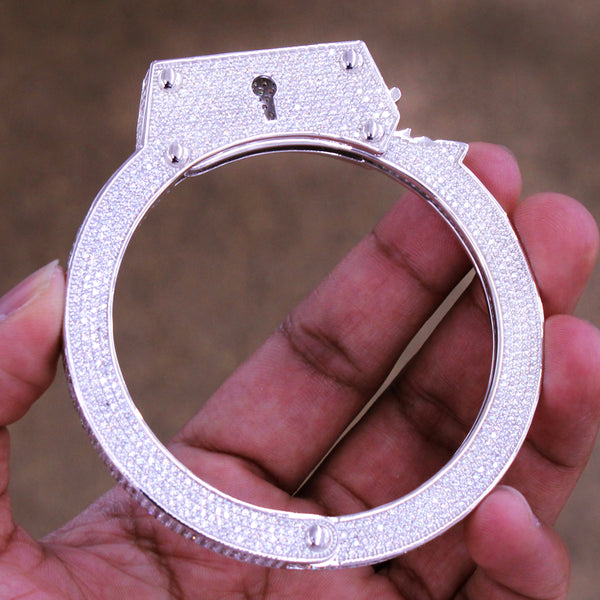 Men's  HandCuffs Bangle Custom Bracelet