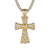 Mens Holy Jesus Cross Skull Face Religious Bling Gold TonePendant