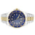 Men's Two Tone Presidential Watch Blue Tachymeter