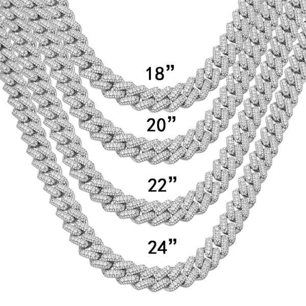 Heavy Miami Cuban Double Layer Booger Bling 18MM Necklace