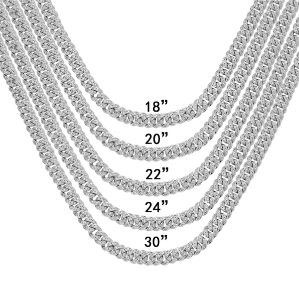 Bling Miami Cuban Link 925 Silver Rapper Choker Necklace