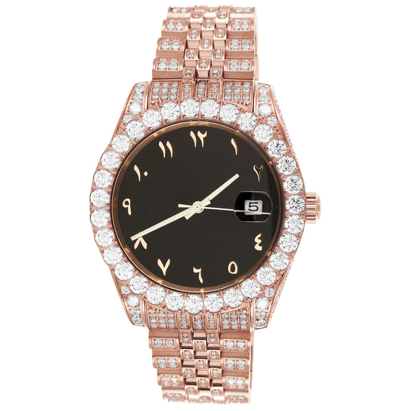 Men's  40mm Presidential Arabic Dial Rose Gold Watch