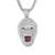 Mens Hip Hop Growling Gorilla Face White Finish Mens Pendant