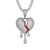 Dripping Cracked Red Enamel Heart Bling Rapper Mens Pendant