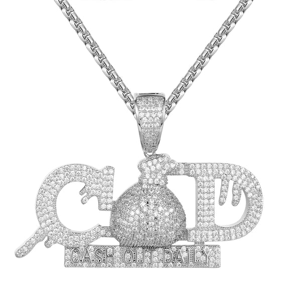 Dripping Cash  Daily Money Dollar Bag Hip Hop Pendant Chain