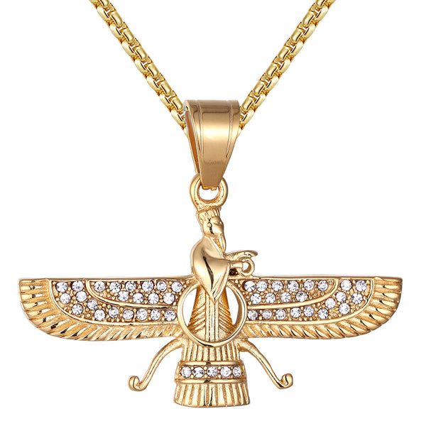 Egyptian God Winged Queen of Magic Religious Steel Pendant