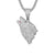 Growling Wolf White Gold Finish Hip Hop Pendant Free Box Chain