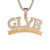 Grind Like Ya Broke GLYB 3D Two Tone Bling Rapper Pendant Chain