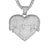 Mens Dripping Heart Love Charm Bling Rapper Pendant