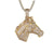 Blessed Lucky Unicorn Gold Finish Micro Pave Pendant