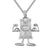 White Tone Money Dollar Bill Emoji Hip Hop Mens Pendant