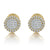 10K Gold Solitaire Diamond Cluster Greek Style Earrings