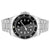 Men's Silver Tone Presidential Custom Watch Black Tachymeter