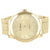 Men's Gold Tone Gold Face Metal Link Quartz Watch