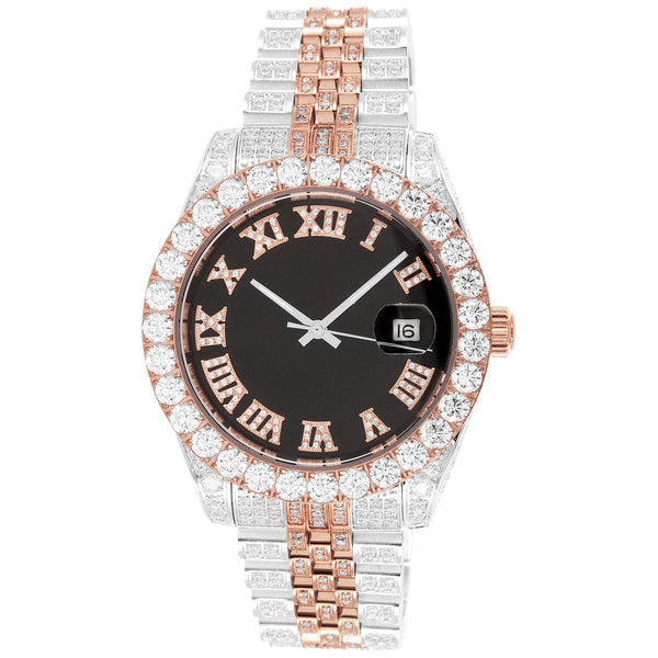 Presidential iced out jubilee band mens watch