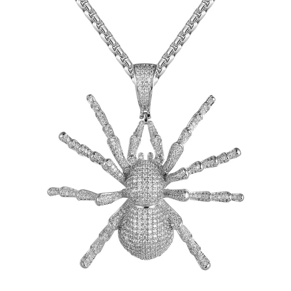Mens Bling Spider Custom Designer Rapper Pendant Chain