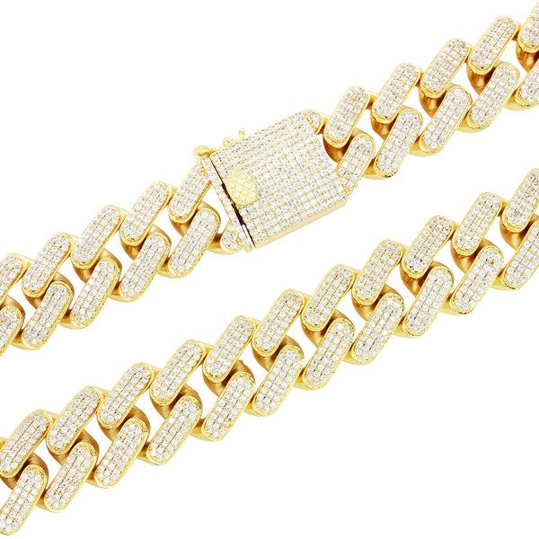 Men's 18mm Square Micro Pave Miami Cuban Necklace
